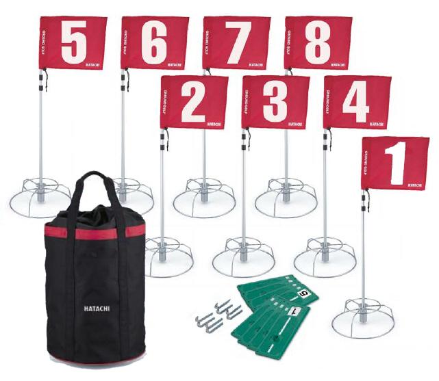 8ホールセットBH1503+収納ケースBH7301 羽立工業 グランドゴルフ用品