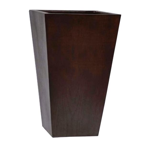 木 風合い 鉢 樹脂製 / MOKU スクエアー33x33xH54cm EB-THKI07【取り寄せ商品】 グリーンポット 寄せ植え 観葉 植物