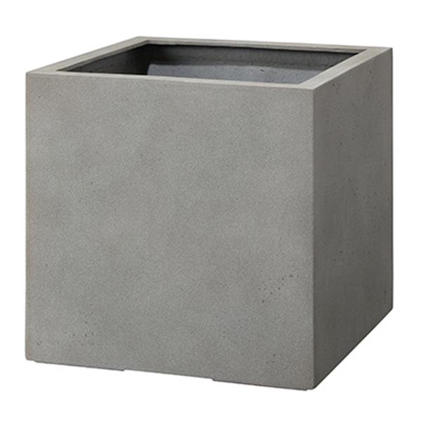 鉢 樹脂 / モードライト キューブ 45×45×45cm EB-MC4545LG 【取り寄せ商品】 グリーンポット 四角 シック