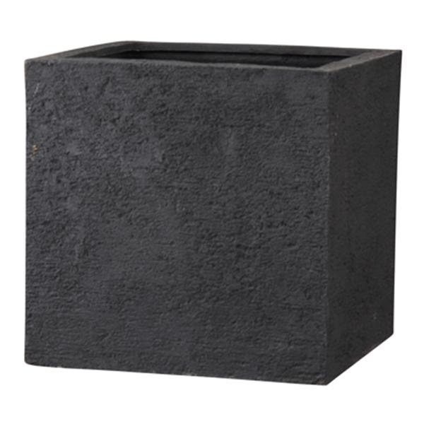 鉢カバー 軽量 / リガンデ キューブ ブラック 40x40cm EB-PL872040BM 【取り寄せ商品】 グリーンポット モダン おしゃれ シンプル