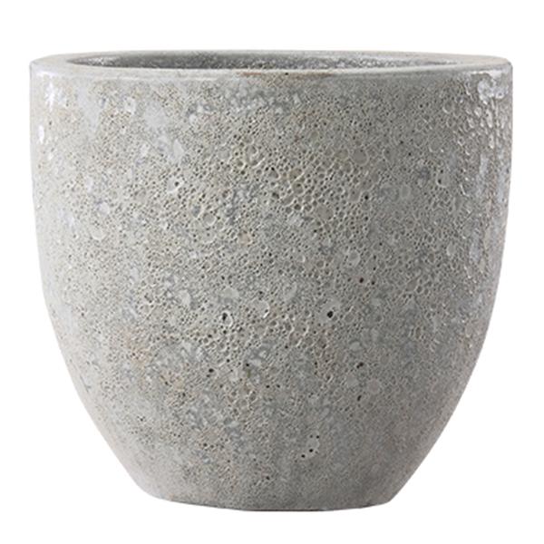 鉢 鉢カバー / ボルカーノ ラウンド Mホワイト 33x29cm EB-VO3329MW 【取り寄せ商品】 グリーンポット おしゃれ 丸型 自然