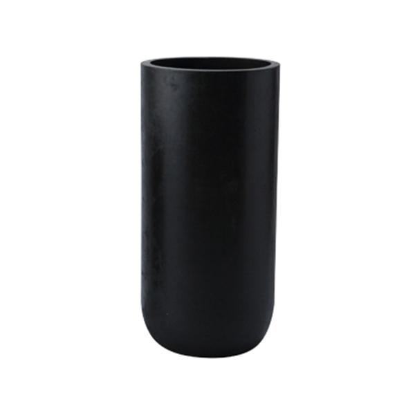 円柱型 鉢カバー / エルバトール黒M LA-002MTBk 【取り寄せ商品】 ミュールミル シンプル モダン おしゃれ