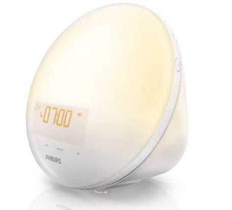目覚ましに就寝に元気を実感下さい光療法 フィリップス ウェイクアップライト Philips Wake-Up Light White HF3510 ホワイト 送料無料 【並行輸入品】