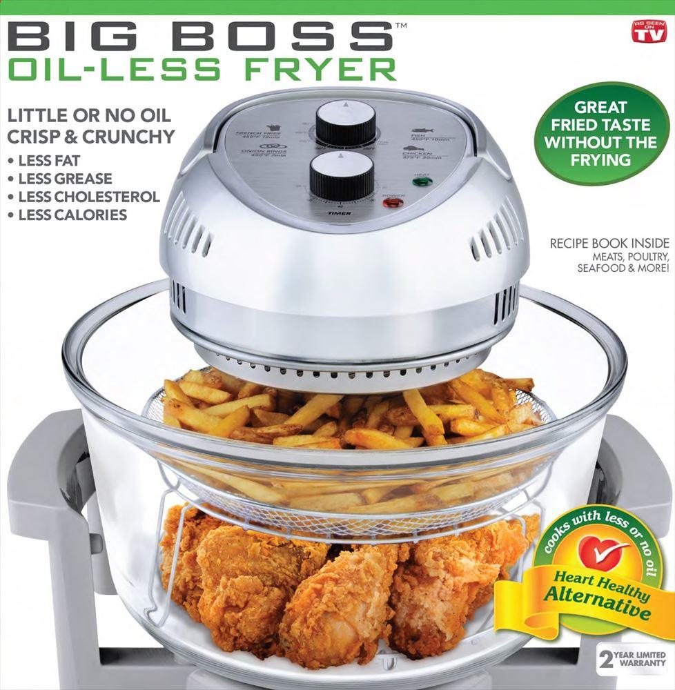 BIG BOSS ビッグボス ノンオイルフライヤー 容量15L グレー 1300-Watt Oil-Less Fryer, 16-Quart 送料無料