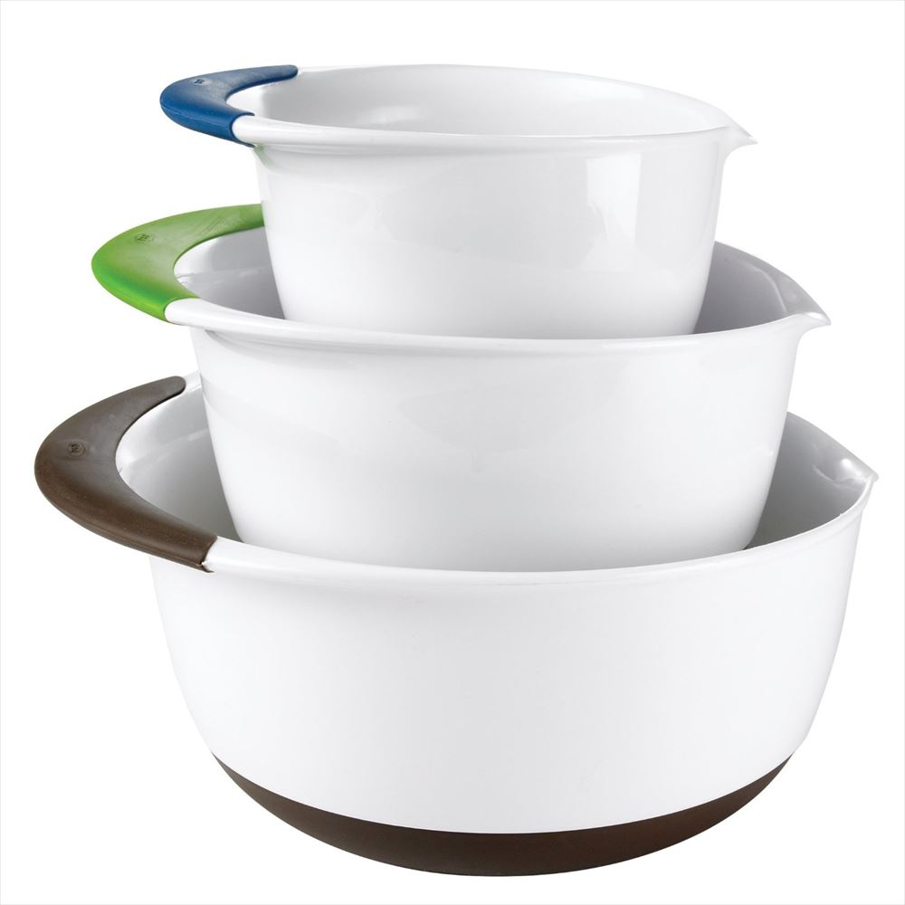 OXO オクソー ミキシングボールセット ブルー グリーン ブラウン Good Grips Mixing Bowl Set with Handles, 3-Piece Blue Green Brown 送料無料 【並行輸入品】