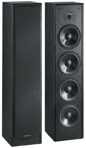 BIC America 2ウェイ タワースピーカー 黒 シングル Venturi DV64 2-Way Tower Speaker, Black Single 一本のみでの販売です! 送料無料 【並行輸入品】