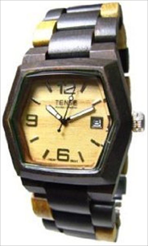Tense テンス Wood Watch Mens Inlaid Multicolor w Date Window G8300DM LF Light Face 男性用 メンズ 腕時計 送料無料 【並行輸入品】