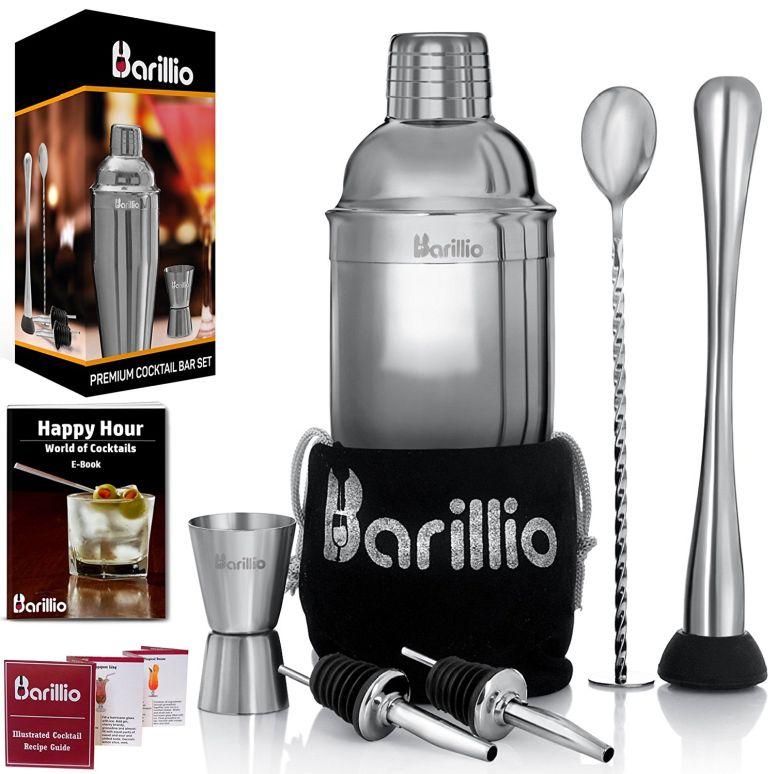 Elite Cocktail Shaker Set Bartender Kit by BARILLIO 送料無料 【並行輸入品】