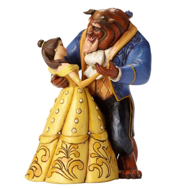 Disney Traditions by Jim Shore Beauty and the Beast Belle Dancing Stone Resin Figurine 送料無料 【並行輸入品】