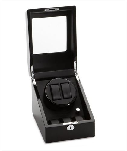 Diplomat ディプロマット ウォッチワインダー Black Wood Double Watch Winder with Bv08mNnw