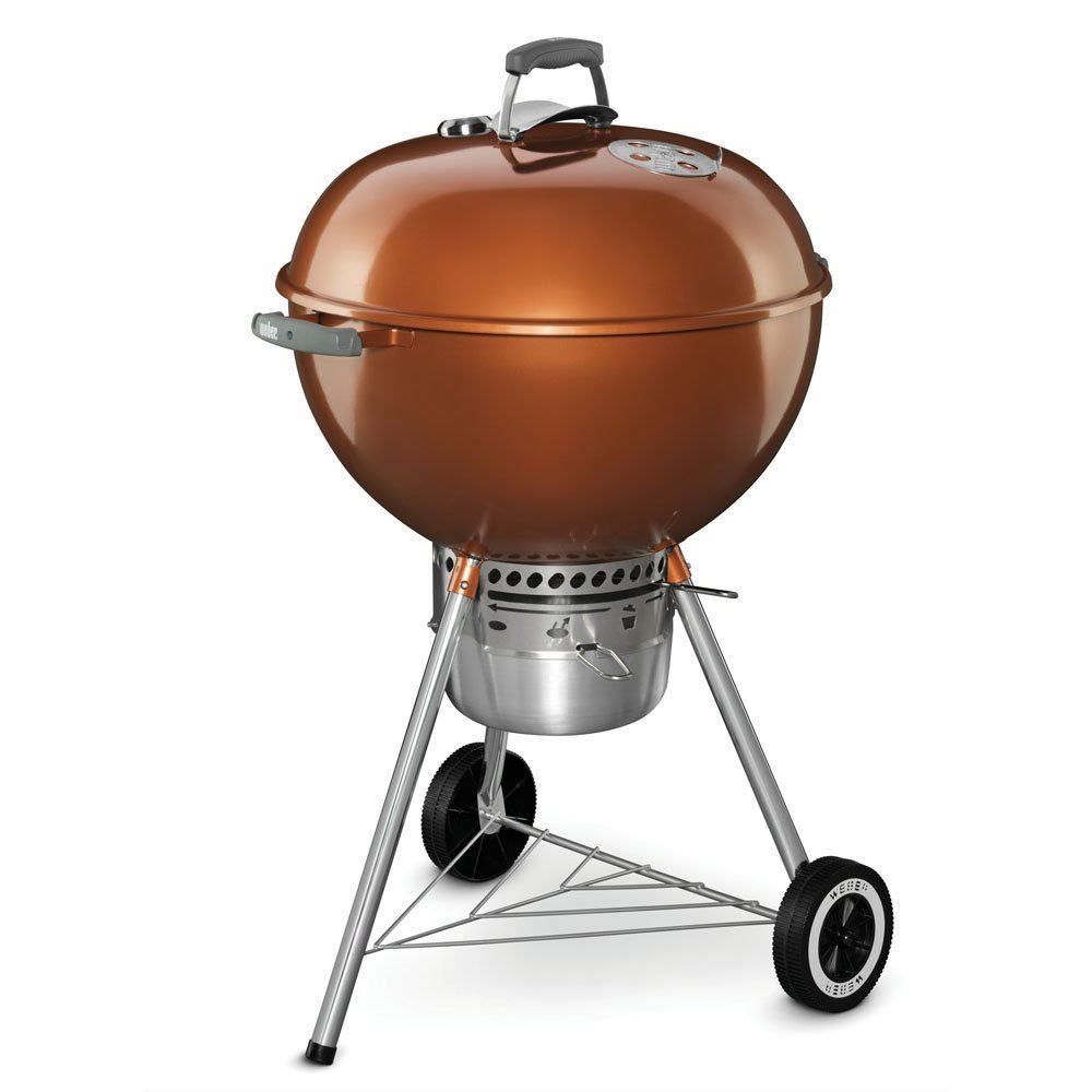 Weber ウェーバー バーベキュー グリル BBQ 14402001 Original Kettle Premium Charcoal Grill, 22-Inch, Copper カッパー 送料無料