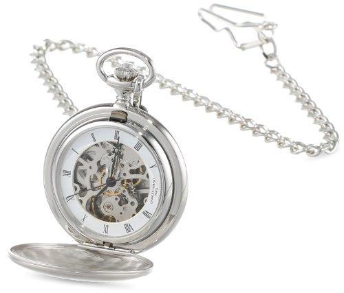 チャールズヒューバート Charles-Hubert, Paris Satin Finish Mechanical Pocket Watch ポケットウォッチ メンズ レディース 懐中時計 腕時計 送料無料 【並行輸入品】