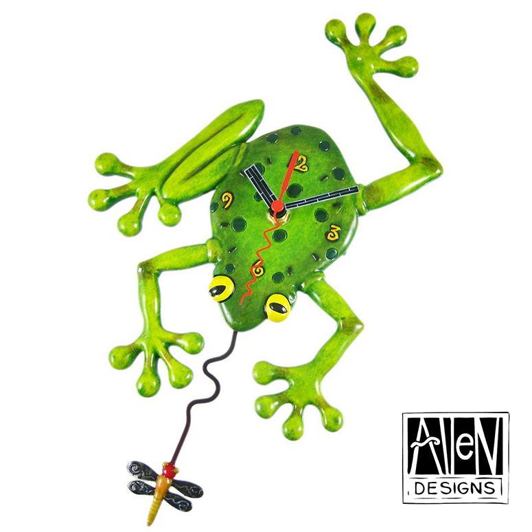 アレン デザイン 振り子時計 Allen Designs Frog Fly Pendulum Wall Clock カエルとトンボ 【 置き時計 掛け時計 】 C106 ミシェルアレン ミシェル・アレン アレン・デザイン ALLEN DESIGNS 時計 送料無料 【並行輸入品】