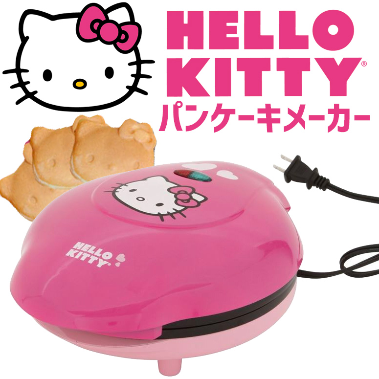 ハローキティ Hello Kitty パンケーキメーカー Pancake Maker Pinkピンク APP-61209 ホットケーキ 朝食 キッチン 家電 調理 APP61209 トースター 送料無料 【並行輸入品】