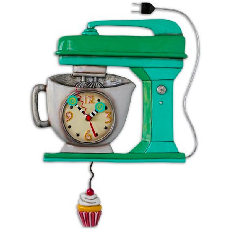 ヴィンテージ ミキサーアレン デザイン 振り子時計 Allen Designs Vintage Mixer Clock キッチン ケーキ 掛け時計 P1370 ミシェルアレン ミシェル・アレン アレン・デザイン ALLEN DESIGNS 時計 送料無料 【並行輸入品】