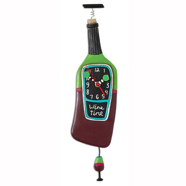 コルク ワイン アレン デザイン 振り子時計 Allen Designs Corked Wine Clock 赤 グラス 掛け時計 P1386 ミシェルアレン ミシェル・アレン アレン・デザイン ALLEN DESIGNS 時計 送料無料 【並行輸入品】