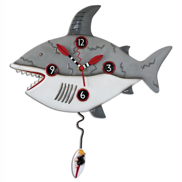 アレン デザイン 振り子時計 Allen Designs Surf Risk Shark Clock