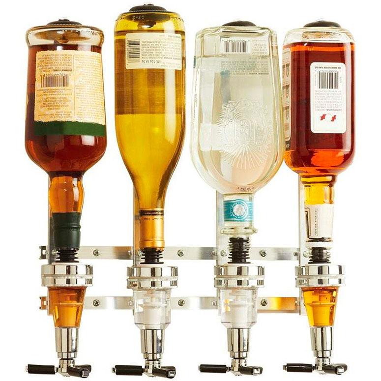 ウィンダム製 Wyndham ハウス 4-ボトル リカー ディスペンサー House 4-Bottle Liquor Dispenser 【 お酒 注ぐ ディスペンサー 注入器 ボトル 最大4本 お洒落 バー 家庭用 簡単操作 】 送料無料 【並行輸入品】