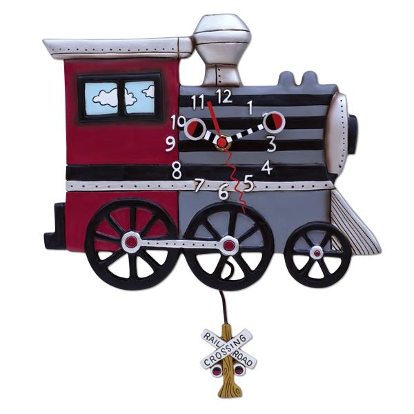 アレン デザイン 振り子時計 Allen Designs Choo Choo Train Clock
