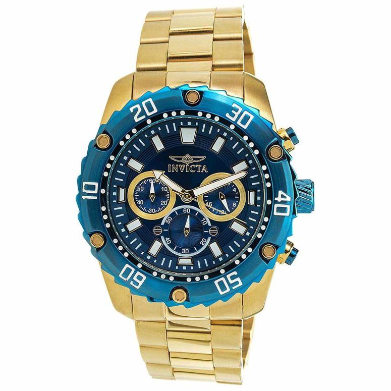 インビクタ Invicta インヴィクタ 男性用 腕時計 メンズ ウォッチ プロダイバーコレクション Pro Diver Collection クロノグラフ ブルー 22518 送料無料 【並行輸入品】
