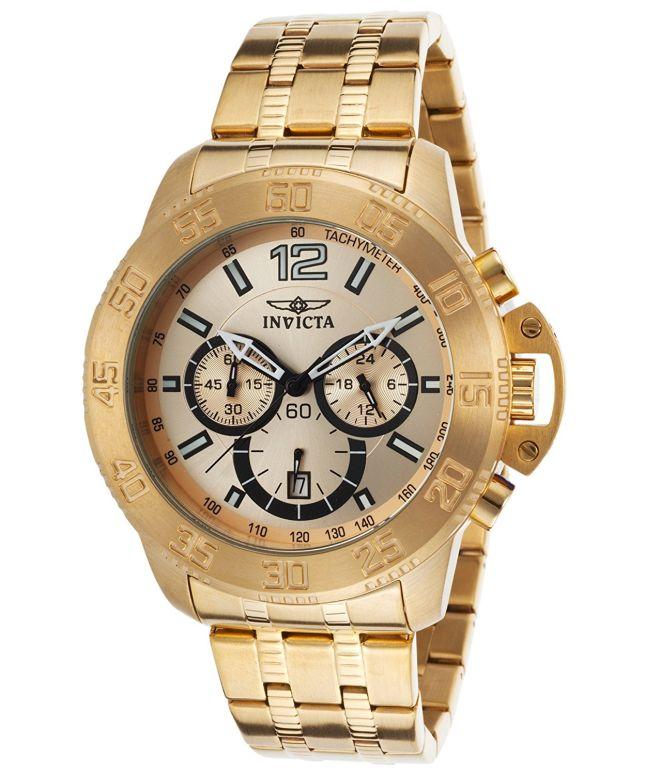 インビクタ Invicta インヴィクタ 男性用 腕時計 メンズ ウォッチ クロノグラフ ゴールド INVICTA-17446 送料無料 【並行輸入品】