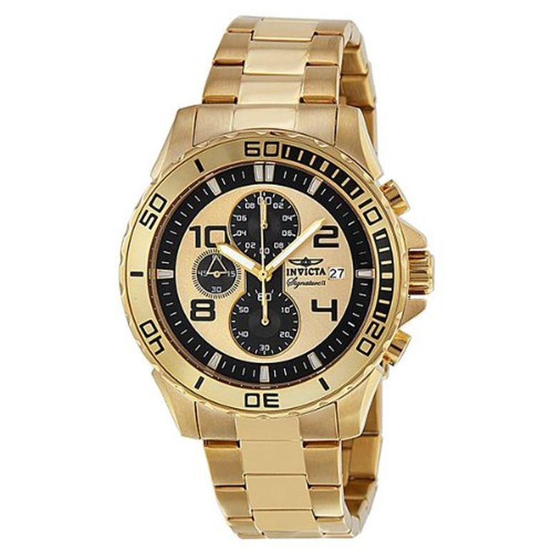 インビクタ Invicta インヴィクタ 男性用 腕時計 メンズ ウォッチ クロノグラフ ゴールド 7472 送料無料 【並行輸入品】