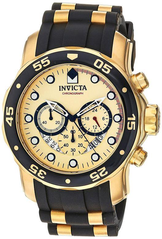 インビクタ Invicta インヴィクタ 男性用 腕時計 メンズ ウォッチ プロダイバーコレクション Pro Diver Collection ゴールド 17566 送料無料 【並行輸入品】