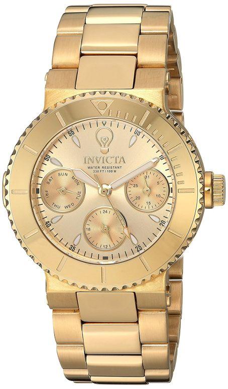 インビクタ Invicta インヴィクタ 女性用 腕時計 レディース ウォッチ ゴールド 22895 送料無料 【並行輸入品】