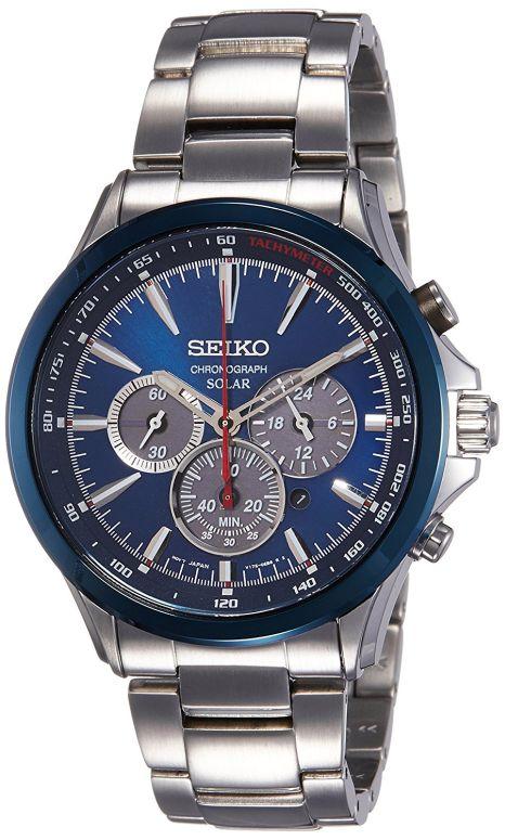 セイコー SEIKO 男性用 腕時計 メンズ ウォッチ クロノグラフ ブルー SSC495P1 送料無料 【並行輸入品】
