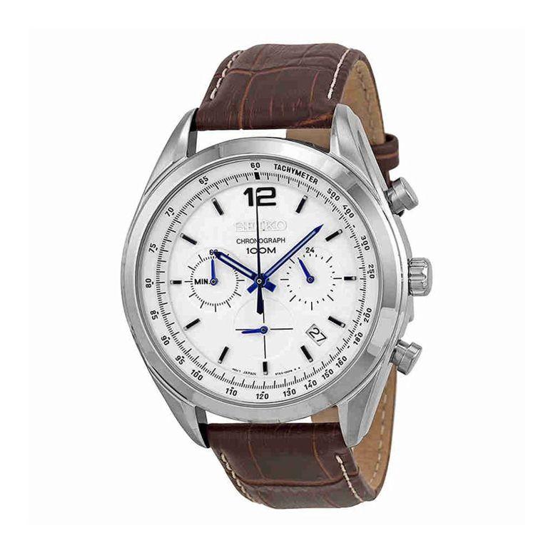 セイコー SEIKO 男性用 腕時計 メンズ ウォッチ クロノグラフ ホワイト SSB095P1 送料無料 【並行輸入品】