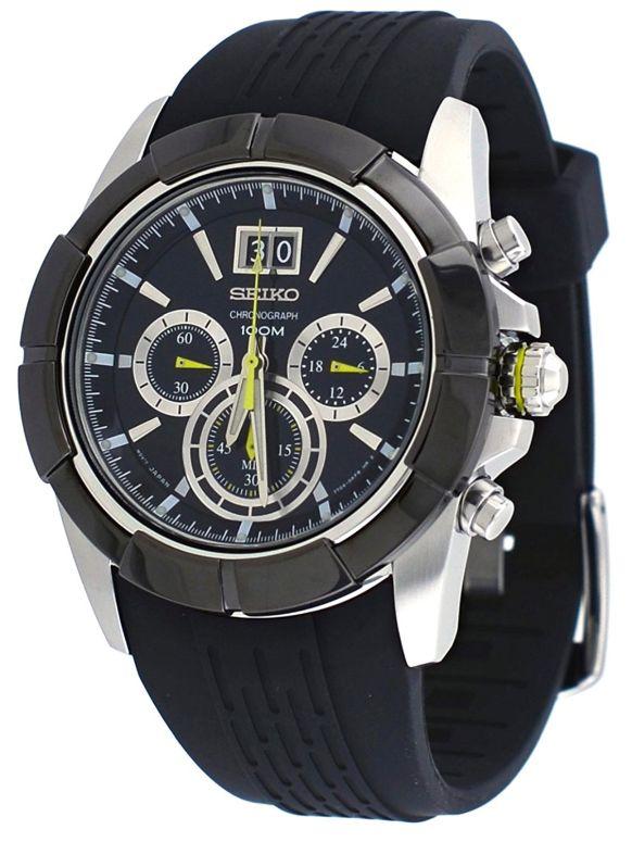 セイコー SEIKO 男性用 腕時計 メンズ ウォッチ クロノグラフ ブラック SPC101 送料無料 【並行輸入品】