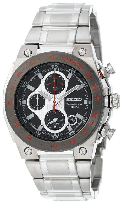 セイコー SEIKO 男性用 腕時計 メンズ ウォッチ クロノグラフ ブラック SNAD55 送料無料 【並行輸入品】