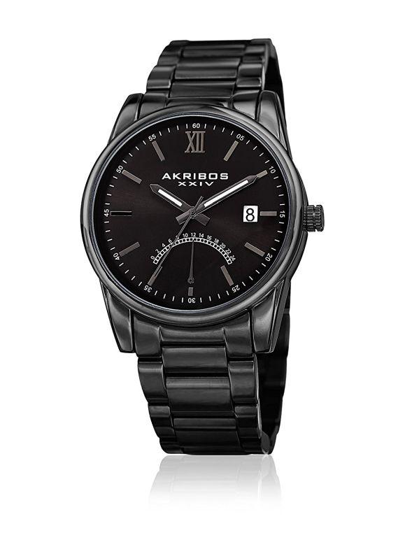アクリボス Akribos XXIV 男性用 腕時計 メンズ ウォッチ ブラック AK962BK 送料無料 【並行輸入品】