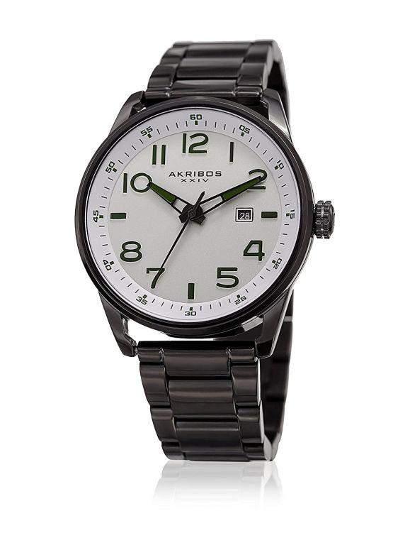 アクリボス Akribos XXIV 男性用 腕時計 メンズ ウォッチ ホワイト AK956SS 送料無料 【並行輸入品】