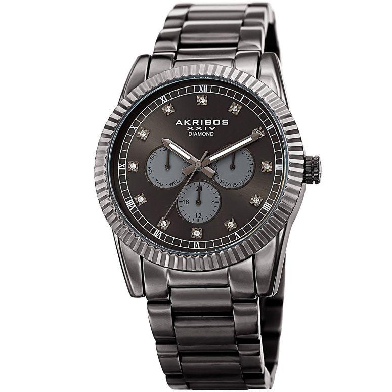 アクリボス Akribos XXIV 男性用 腕時計 メンズ ウォッチ グレー AK958GN 送料無料 【並行輸入品】