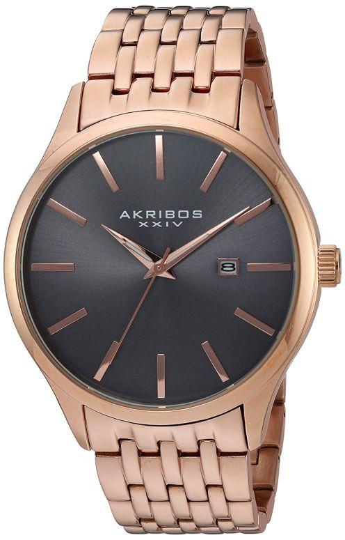 アクリボス Akribos XXIV 男性用 腕時計 メンズ ウォッチ グレー AK941RG 送料無料 【並行輸入品】