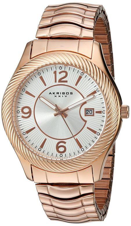 アクリボス Akribos XXIV 男性用 腕時計 メンズ ウォッチ シルバー AK946RG 送料無料 【並行輸入品】