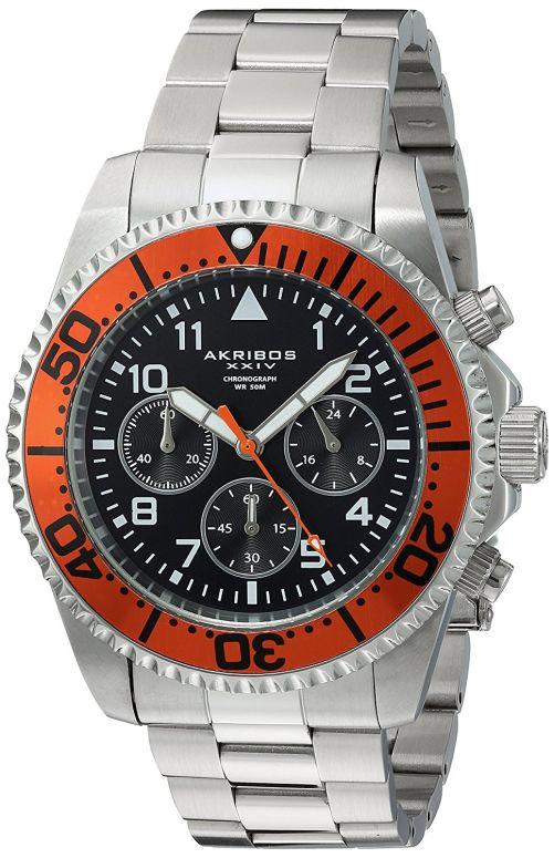 アクリボス Akribos XXIV 男性用 腕時計 メンズ ウォッチ ブラック AK950SSOR 送料無料 【並行輸入品】