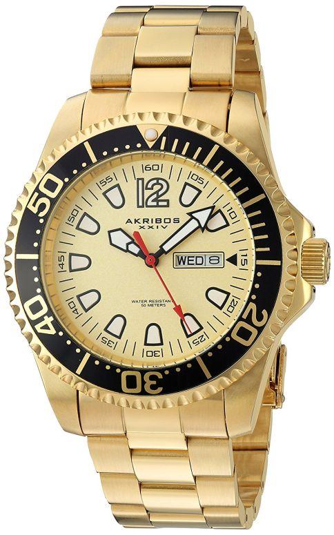 アクリボス Akribos XXIV 男性用 腕時計 メンズ ウォッチ ゴールド AK947YG 送料無料 【並行輸入品】