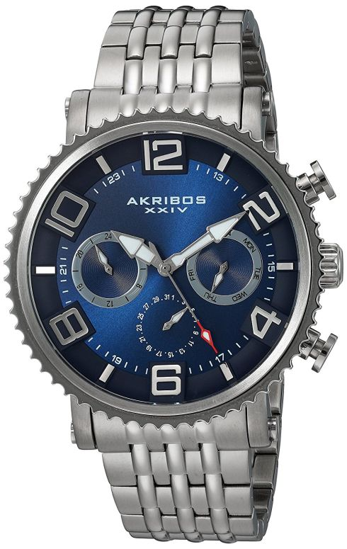アクリボス Akribos XXIV 男性用 腕時計 メンズ ウォッチ ブルー AK917SSBU 送料無料 【並行輸入品】