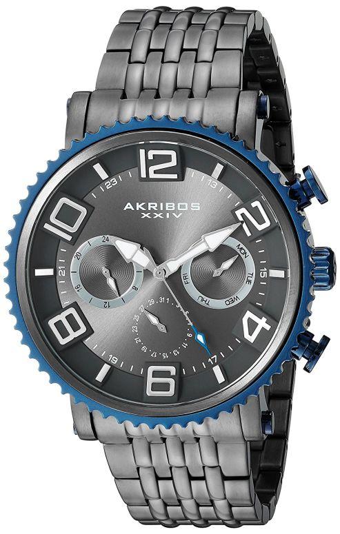 アクリボス Akribos 腕時計 XXIV 男性用 腕時計 メンズ メンズ ウォッチ グレー AK917GN 送料無料 送料無料【並行輸入品】, オリジナルシルバーCHUNKY FACTORY:5bcb456c --- sunward.msk.ru