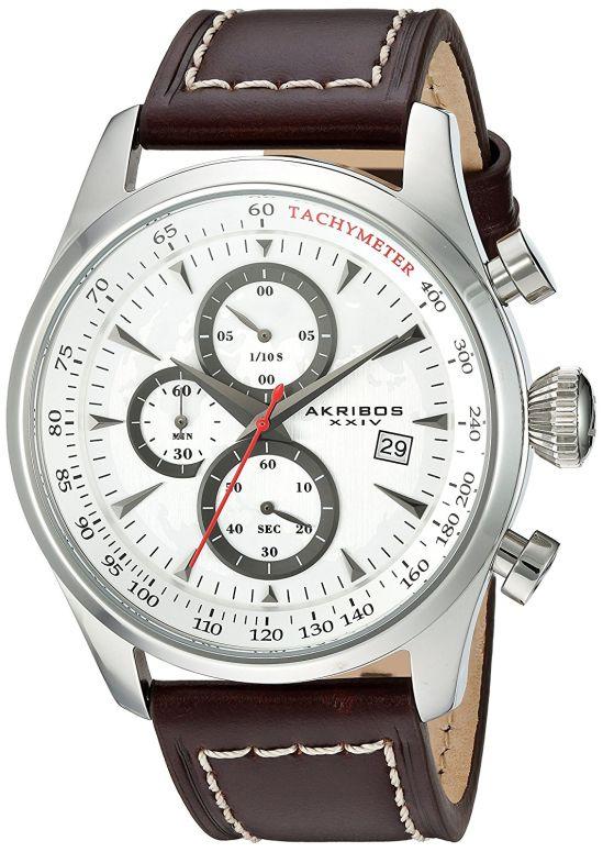 アクリボス Akribos XXIV 男性用 腕時計 メンズ ウォッチ ホワイト AK915SS 送料無料 【並行輸入品】