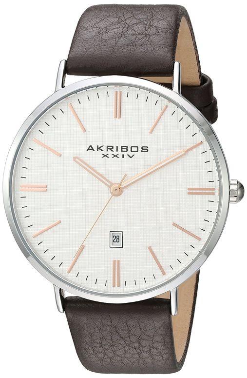 アクリボス Akribos XXIV 男性用 腕時計 メンズ ウォッチ シルバー AK935SSRG 送料無料 【並行輸入品】