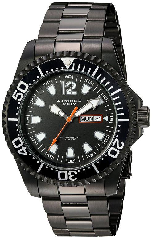 アクリボス Akribos XXIV 男性用 腕時計 メンズ ウォッチ ブラック AK947BK 送料無料 【並行輸入品】