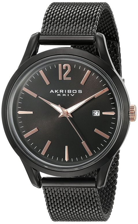 アクリボス Akribos XXIV 男性用 腕時計 メンズ ウォッチ ブラック AK920BK 送料無料 【並行輸入品】