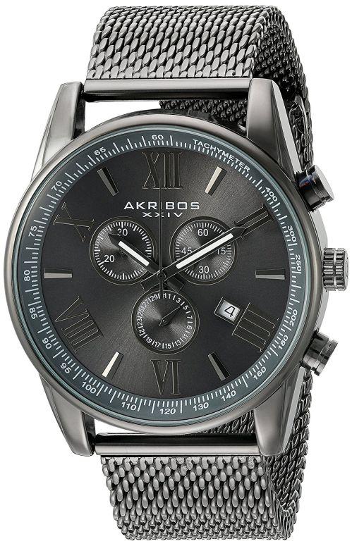 アクリボス Akribos XXIV 男性用 腕時計 メンズ ウォッチ クロノグラフ グレー AK813GN 送料無料 【並行輸入品】
