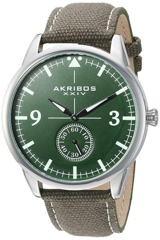 アクリボス Akribos XXIV 男性用 腕時計 メンズ ウォッチ グリーン AK938GN 送料無料 【並行輸入品】