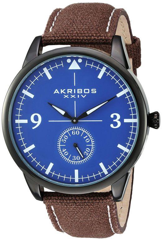 アクリボス Akribos XXIV 男性用 腕時計 メンズ ウォッチ ブルー AK938BR 送料無料 【並行輸入品】