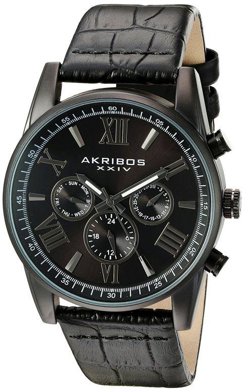 アクリボス Akribos XXIV 男性用 腕時計 メンズ ウォッチ ブラック AK911BK 送料無料 【並行輸入品】