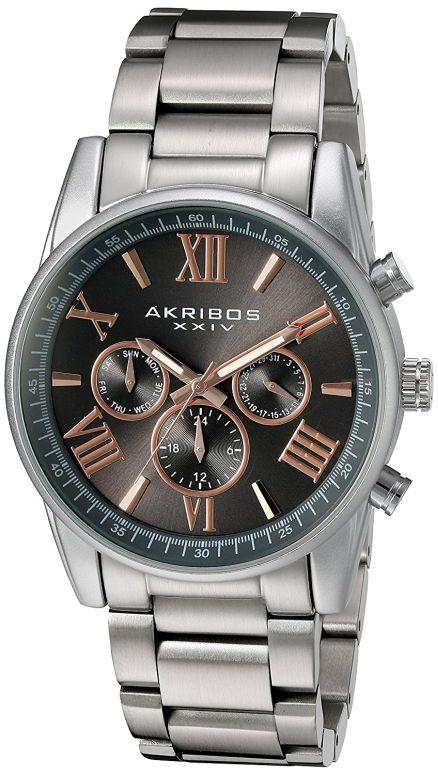 アクリボス Akribos XXIV 男性用 腕時計 メンズ ウォッチ グレー AK912SSGY 送料無料 【並行輸入品】